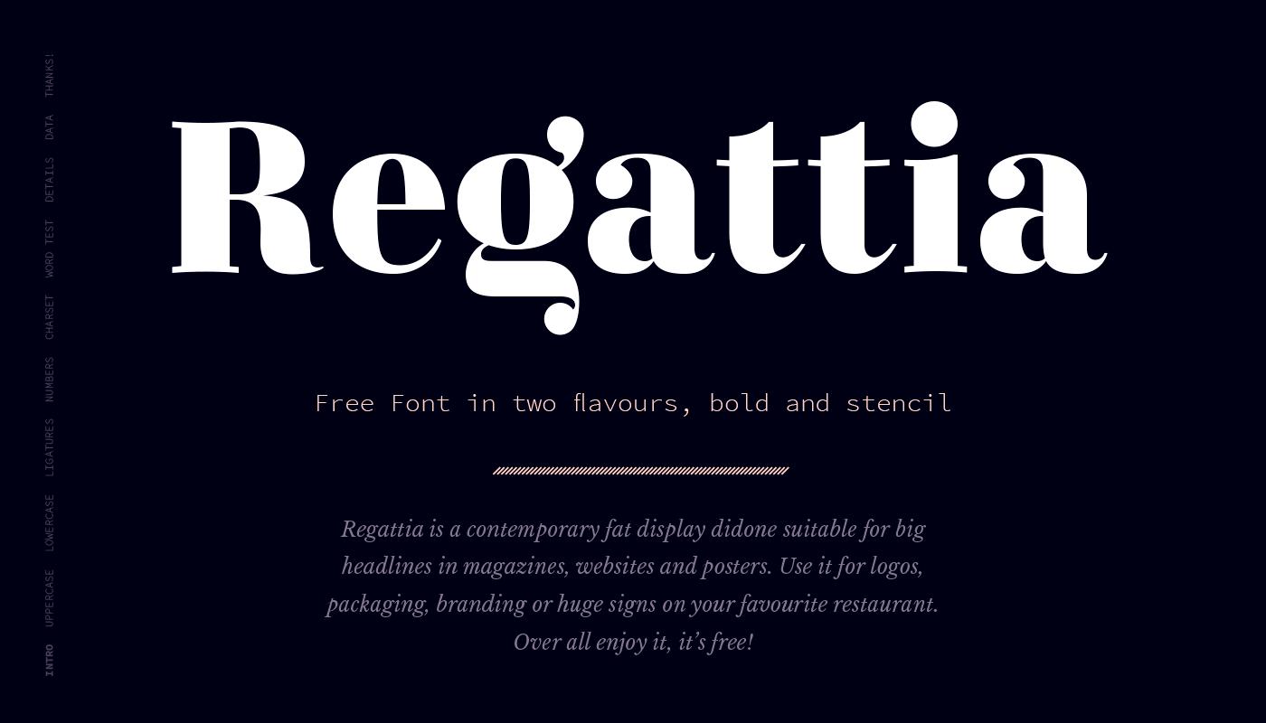 Regattia Font – Free Bold & Stencil Version Download | Free Fonts
