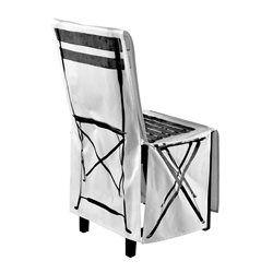 Housse De Chaise En Coton Imprime Pliante Noir Et Blanc DAYCOLLECTON