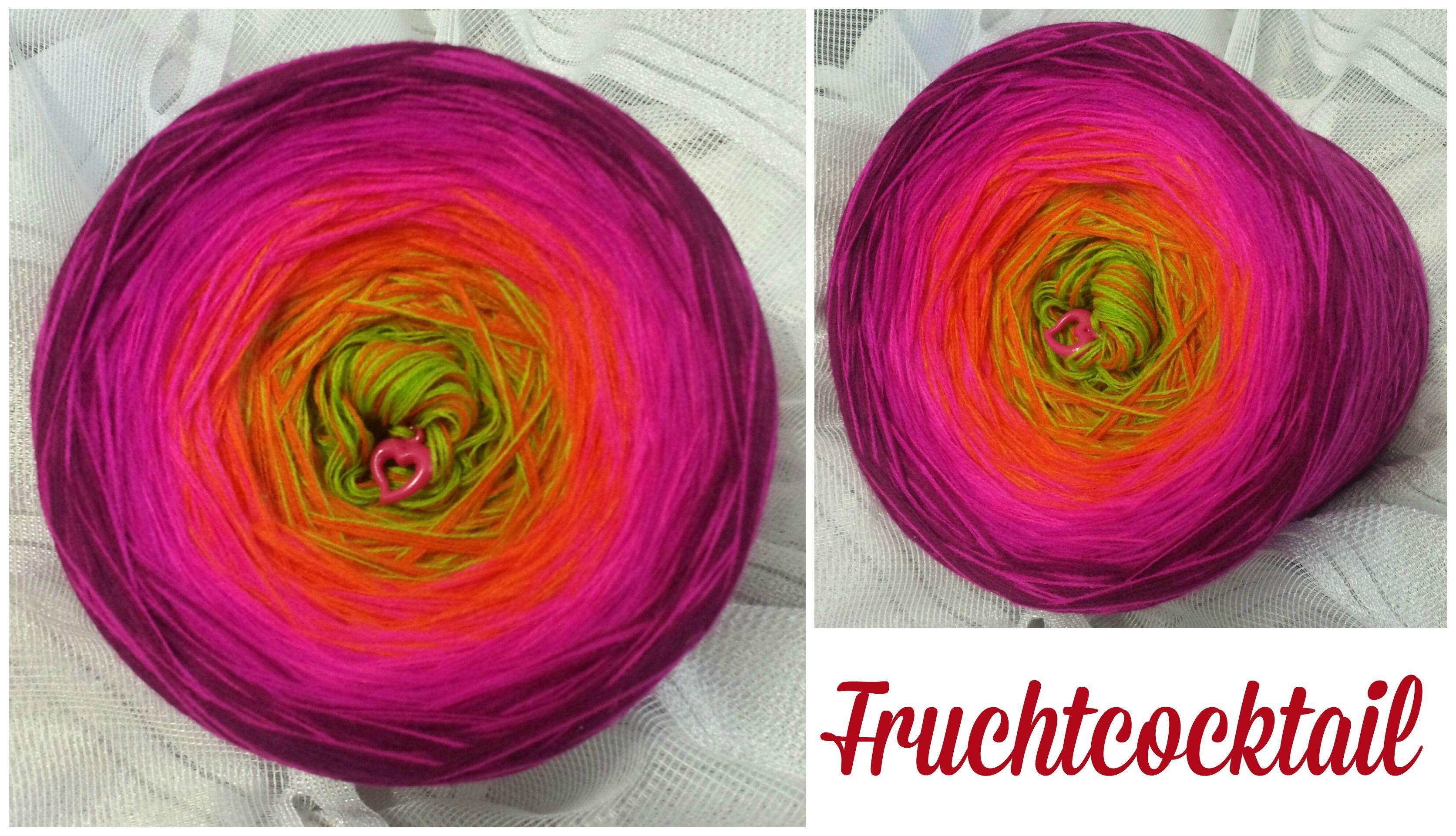 Fruchtcocktail: (Mix) Material: Hochbauschacryl 5 Farben: apfelgrün orange neonpink magenta beere