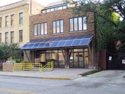 Solar panels canopy