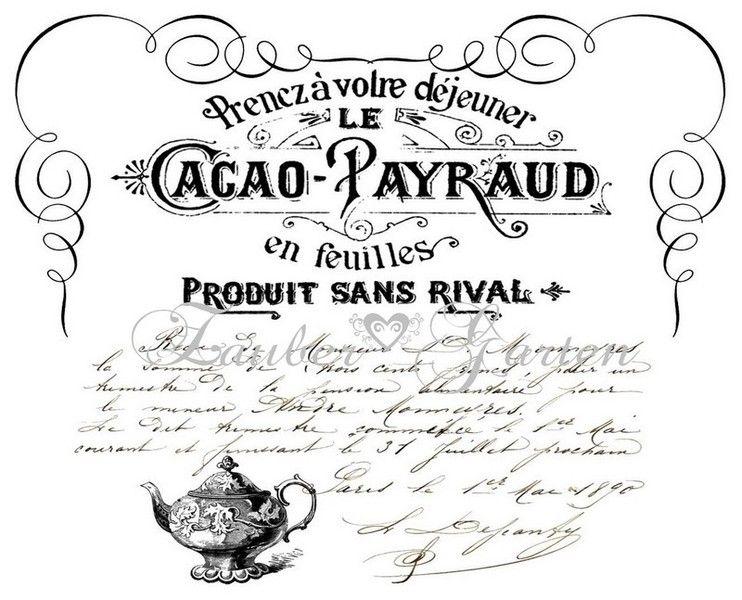 *Sehr dekoratives Vintage Bügelbild im French Style mit bearbeiteten Vintage Grafiken.  Das Bild ist spiegelverkehrt auf ein DIN A4 Blatt gedruckt.  E