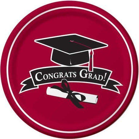 Graduation School Colors Burgundy 9-inch Paper Plates 18 Per Pack by Creative Converting.  sc 1 st  Pinterest & Graduation School Colors Burgundy 9-inch Paper Plates 18 Per Pack by ...