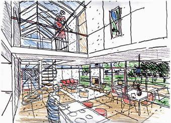 great perspective interior sketch | interior sketch | pinterest
