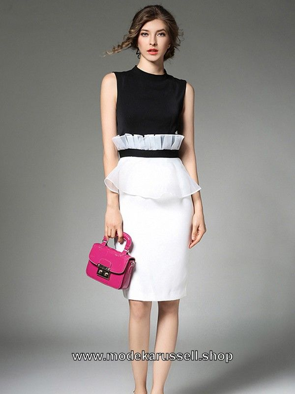 Damen kleid schwarz weiss