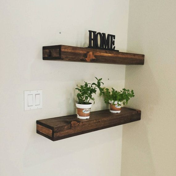 Handmade Rustic And Reclaimed Wood Floating Shelves Mantel Wall