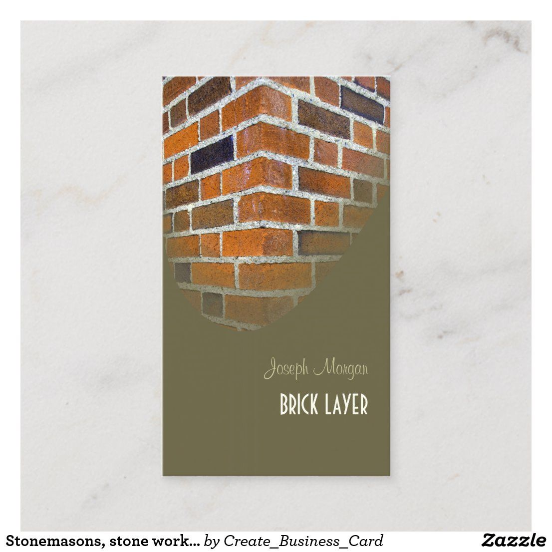 Stonemasons  Stone Workers Business Cards