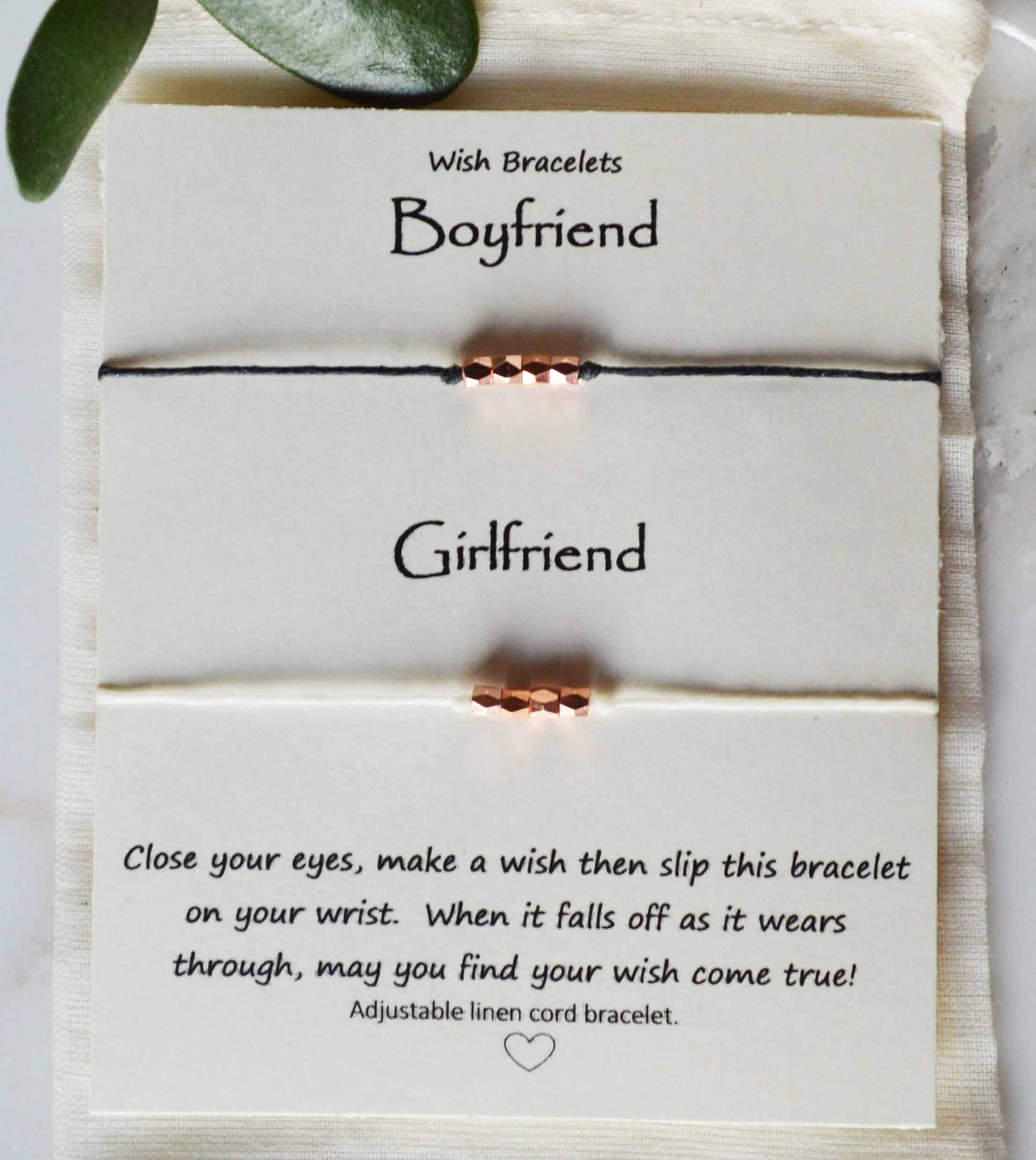 Wish bracelets sets, girlfriend boyfriend wish bracelets, Anniversary gift, couple wish bracelets, his & Hers bracelet, Sweetest Day Man