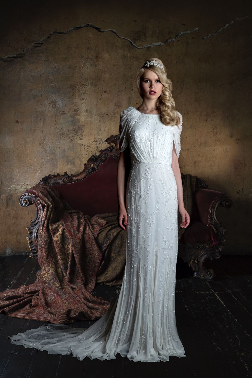 Vintage cowl neck wedding dress  The incredible  bridal collection from Eliza Jane Howell  Eliza