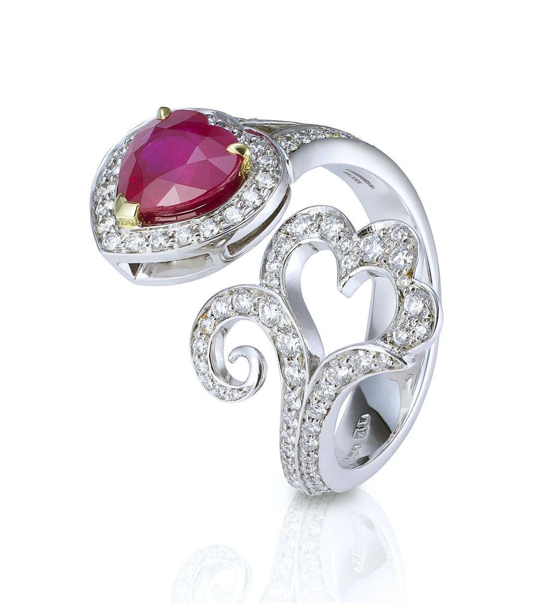 PassEnd Ruby and Diamond Ring. Ruby and diamonds in