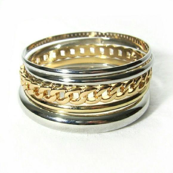 """1 HOUR SALE Multi Color Bangle Bracelets Set - Diameter is approximately 2 3 / 4 """"   - Will ship the same day if ordered mon - friday before 2pm PST or next day if ordered after 2pm PST   - Website : www.ForYourBigDate.com   - Instagram @foryourbigdate Jewelry Bracelets"""