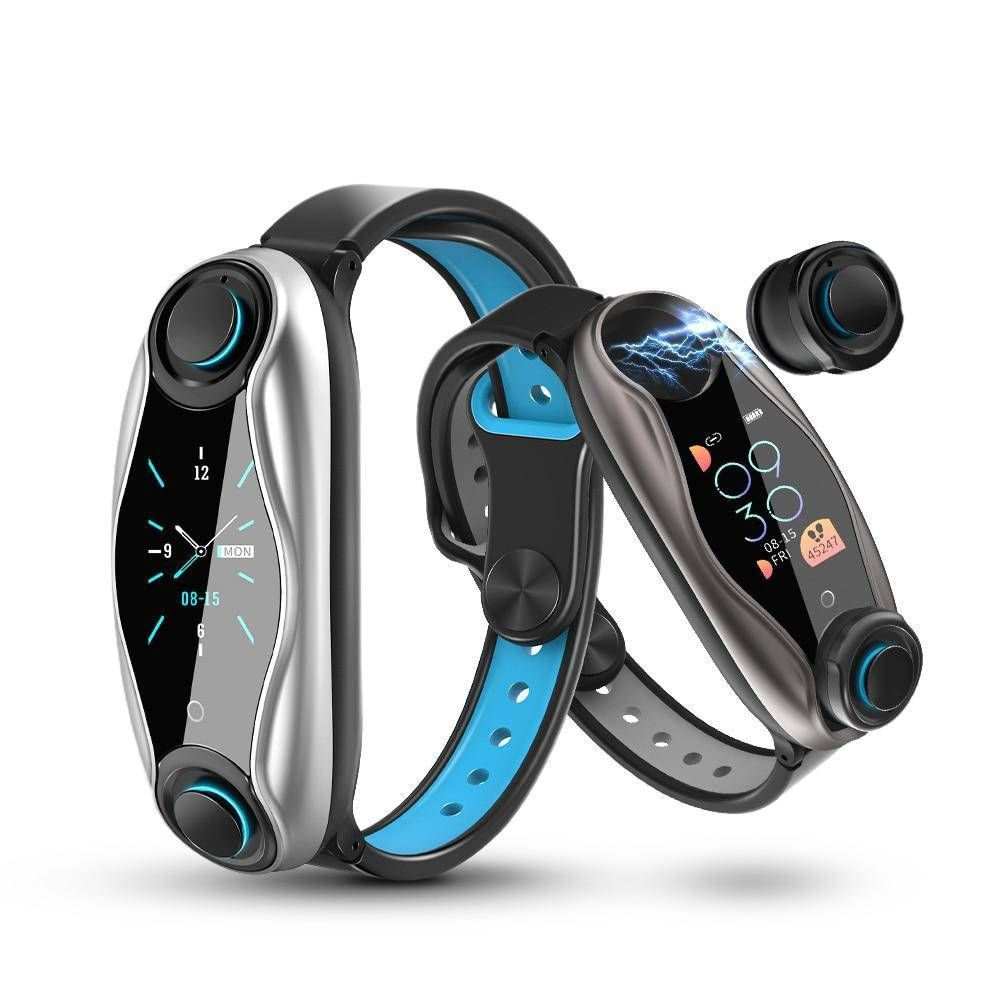Smart Wristband Pedometer With Wireless headphones 2 In 1