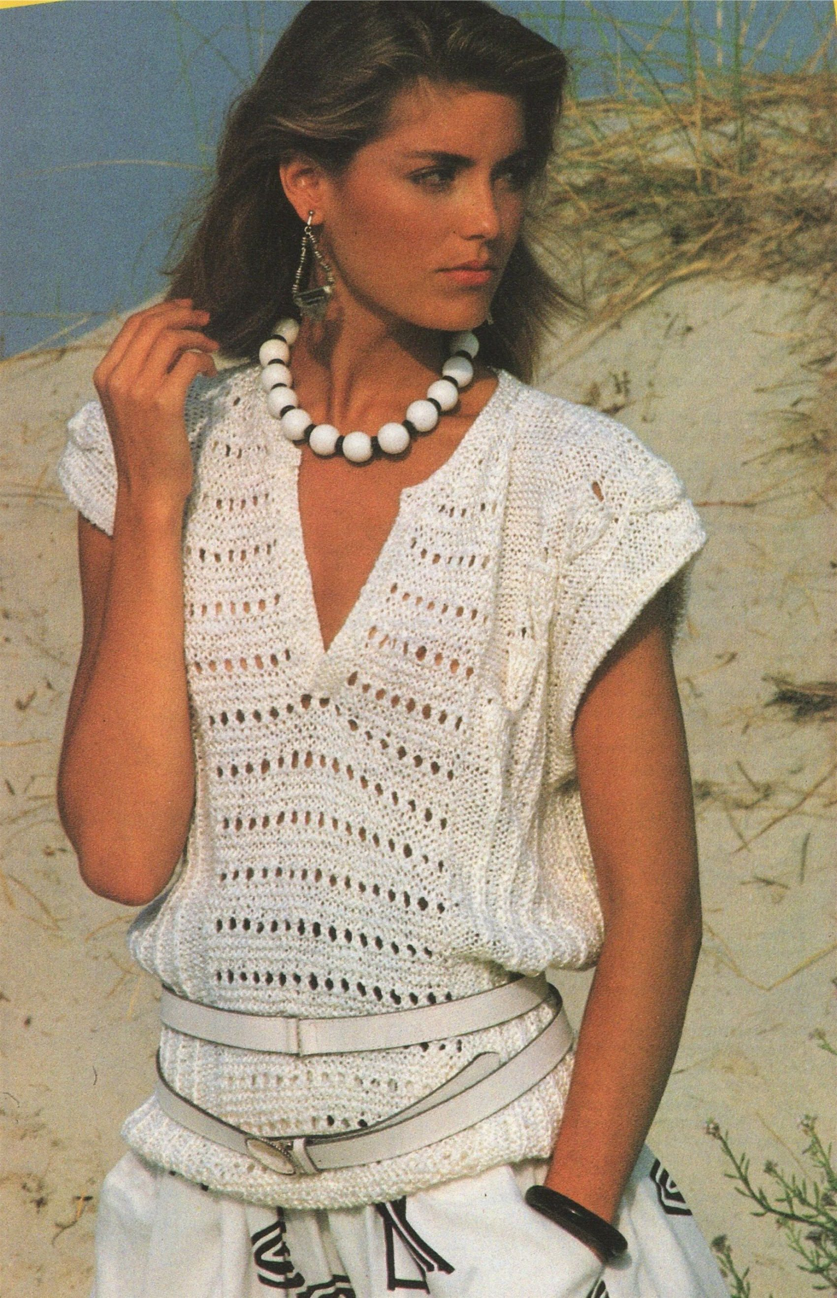 Womens Jumper Top PDF Knitting Pattern : Ladies 32 - 34 and 36 - 38 ...