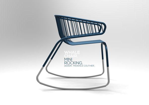 Whale Chair par Maxence Courtier : Mini Rocking 2012 - http://design-index.net/whale-chair-par-maxence-courtier-mini-rocking-2012/