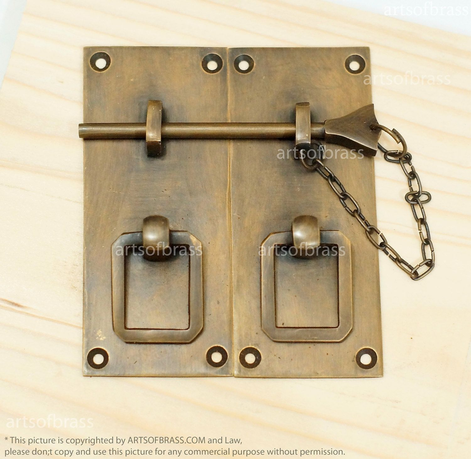 Vintage Solid Brass Retro Drawer LATCH Cabinet LATCH Door Box ...