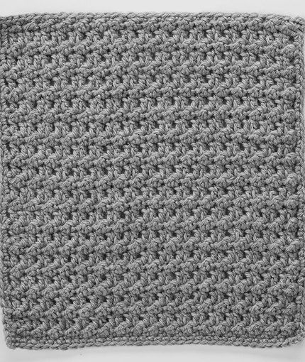 Double Crochet Slip Stitch Square For Checkerboard Textures Throw
