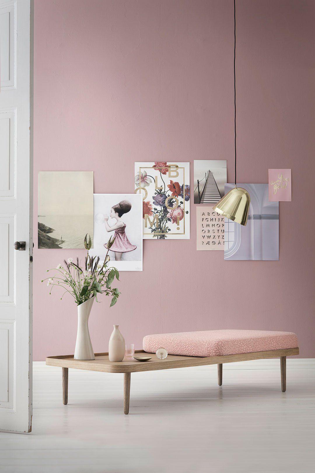 """Un rose """"passé"""" sur les murs pour une déco vintage à souhait !"""