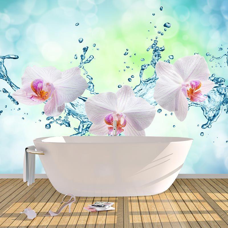 Fotobehang Orchidee Splash Gratis Op Maat Gemaakt Youpri Nl Fotobehang Behang Orchidee