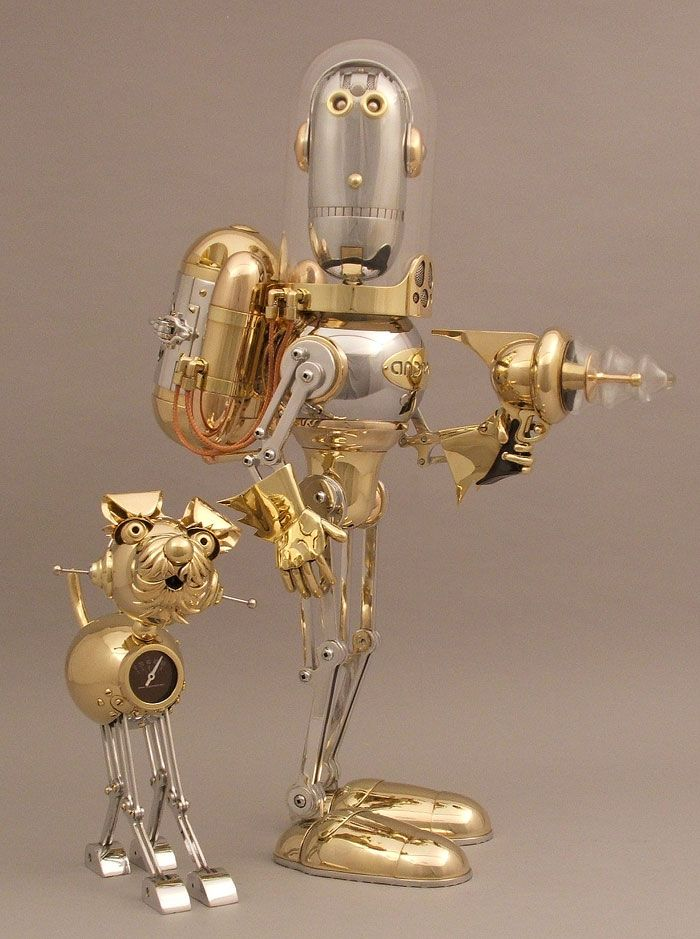 Cute characters! #Steampunk sculptures..these 2 guys are just way too cute!!