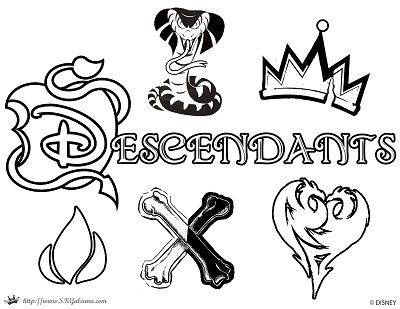 Descendants Coloring Page Logo