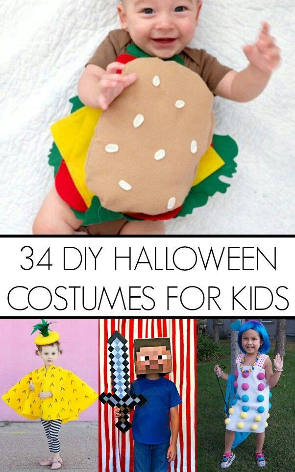 Here are 34 DIY Kid HALLOWEEN Costume ideas   www - kid halloween costume ideas
