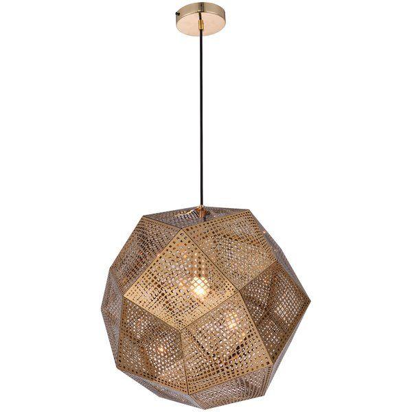 Youll love the bullis 1 light geometric pendant at wayfair ca