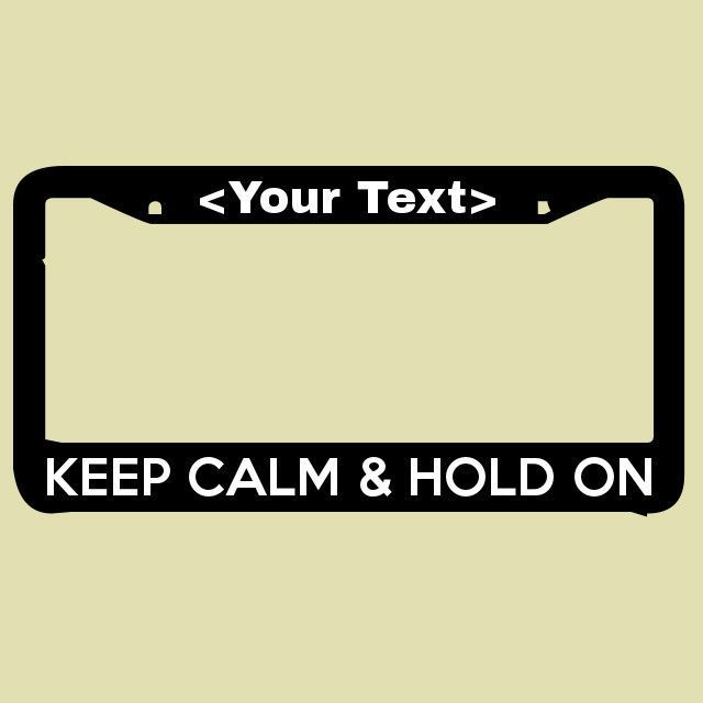 Glossy Black License Plate Frame KEEP CALM AND COWGIRL UP Auto Accessory