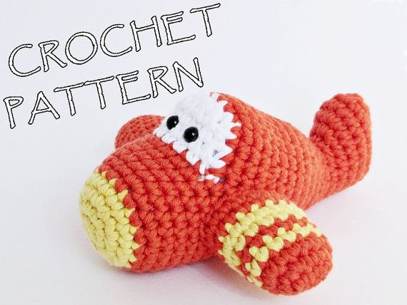 Crochet pattern toy airplane amigurumi tutorial in English, Dutch ...