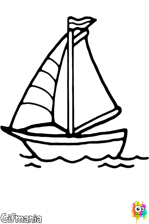 Velero | Dibujos para Colorear | Coloring pages, Coloring pages for ...