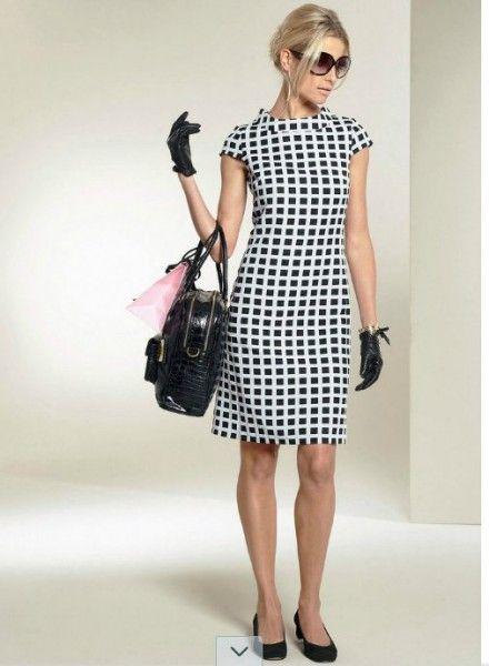 collezione-vestiti-anni-50-donna-abito-tubino-quadri-bonprix ... 3fa092b7103