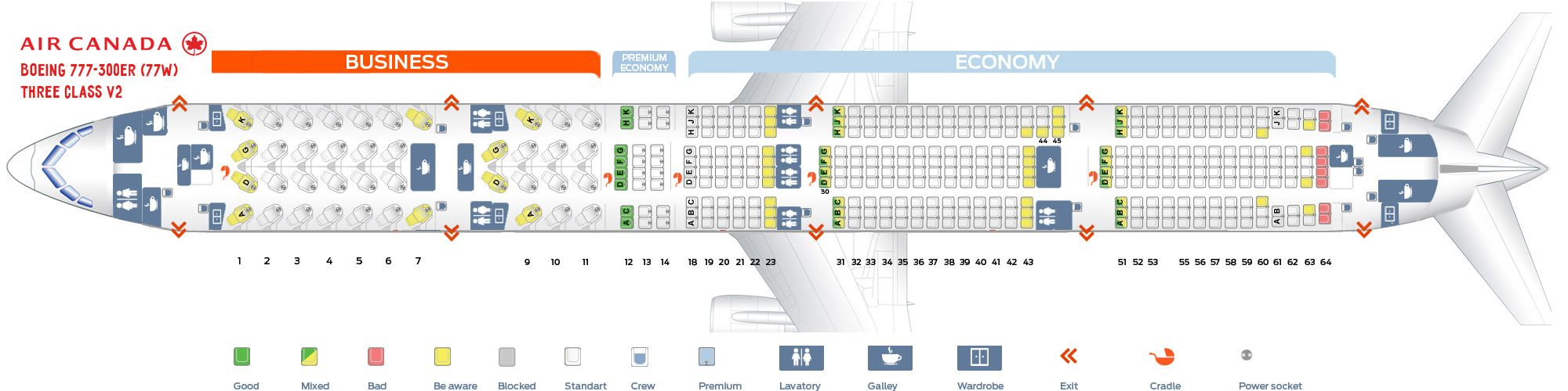 Air Canada Fleet Boeing 777300ER Details and Pictures