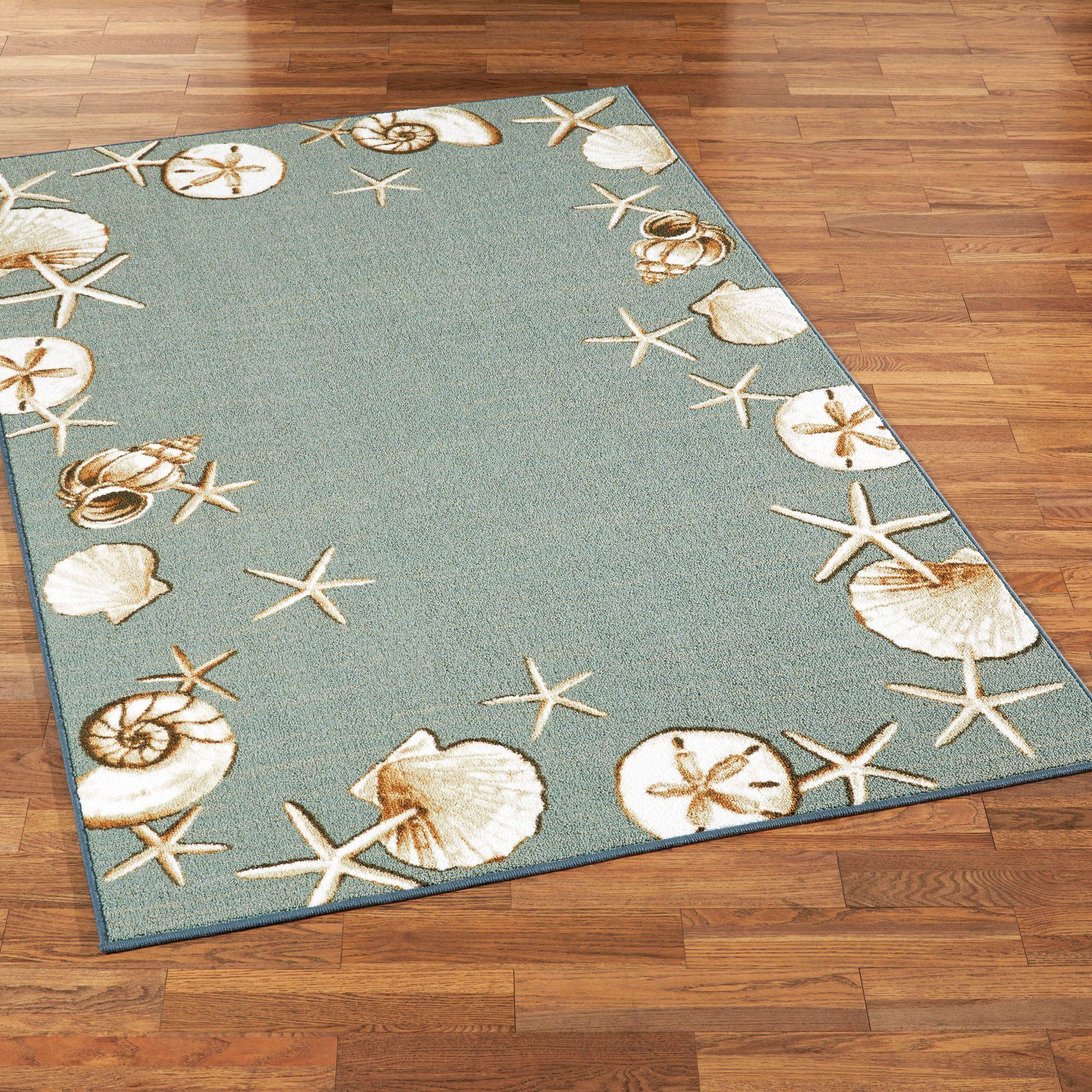 waimea bay seashell area rugs | beach house decor☀ | pinterest
