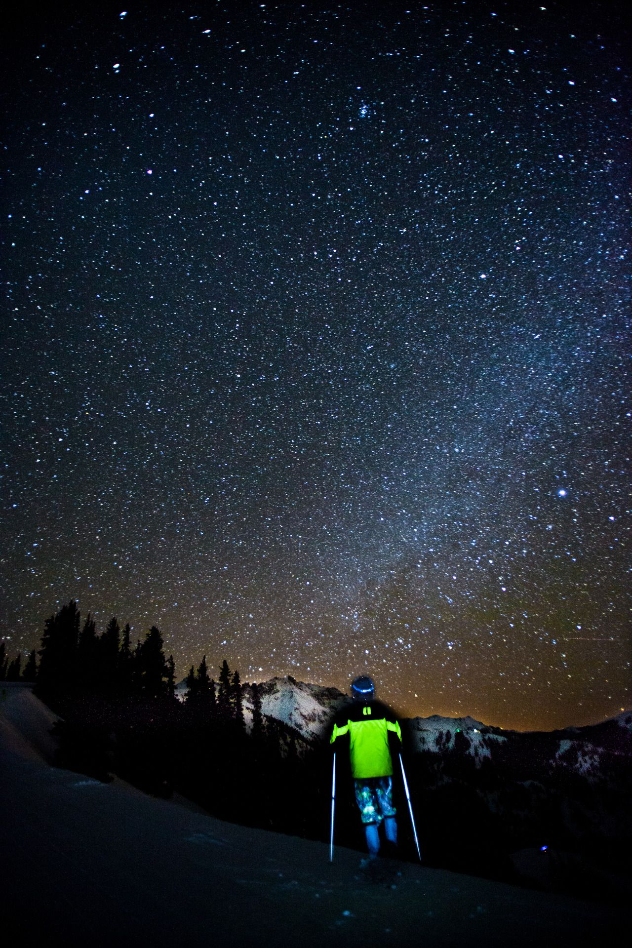 night skiing is amazing. especially with a night sky like in Telluride.