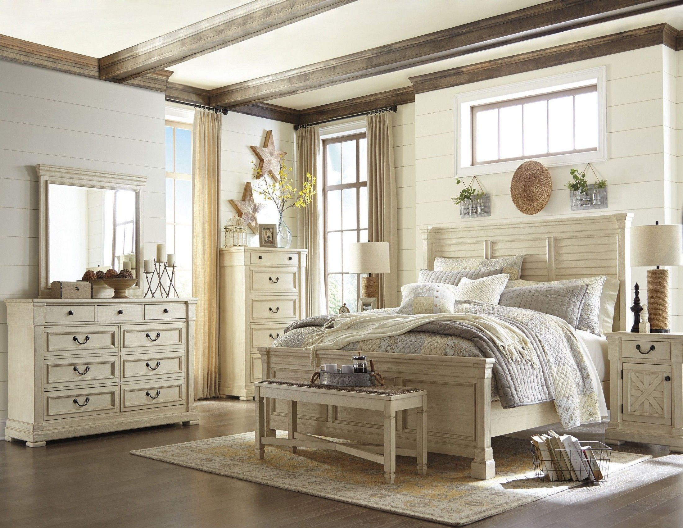 accent a room with the bolanburg bedroom set that exudes a mix of