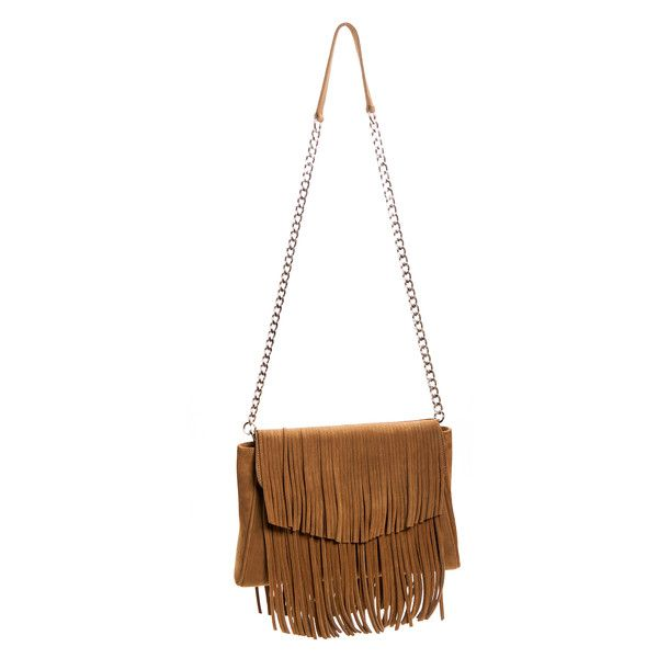 Tan Suede Leather Fringed 'Taylea' Handbag ($1,329) ❤ liked on Polyvore featuring bags, handbags, fringe purse, white hand bags, suede fringe bag, tan handbags and tan suede handbag