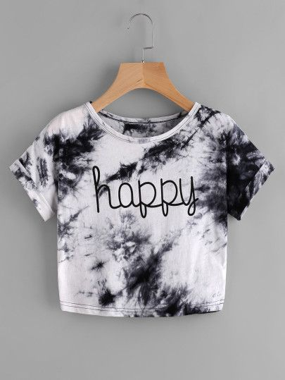 0b7b5f816 Water Color Letter Print Tee Atuendo