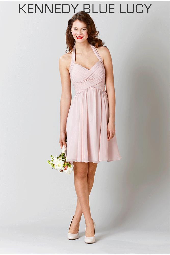 A Short Chiffon Dress With Flattering Halter Neckline