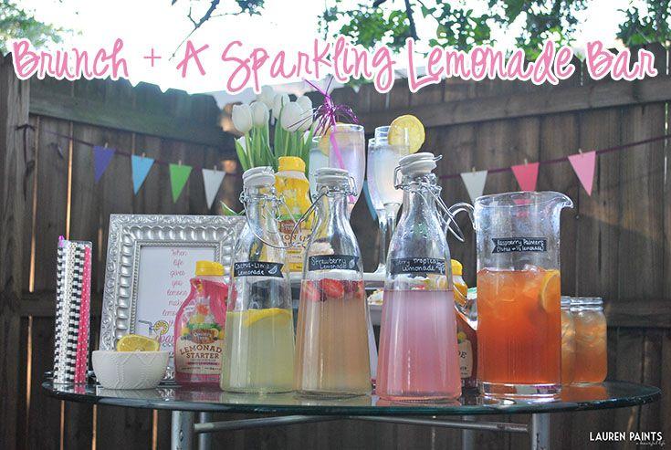 Brunch + A Sparkling Lemonade Bar - Pour More Fun with Country Time Lemonade Starters #sparklinglemonade