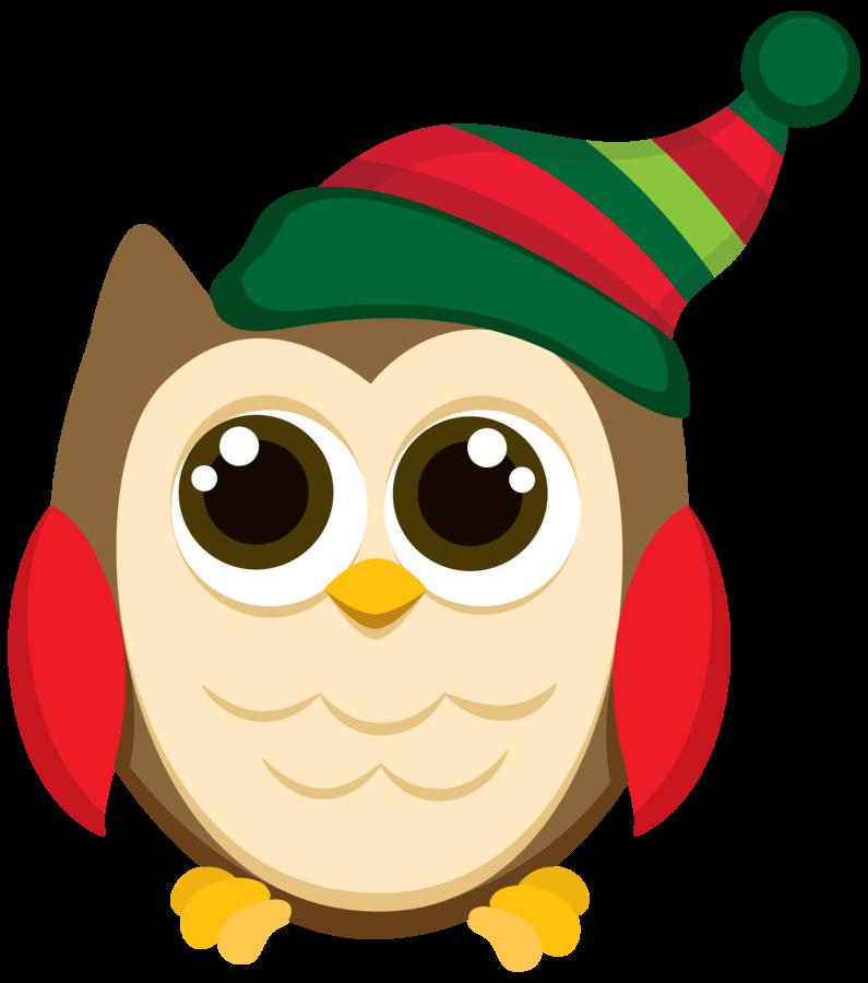Christmas Owl.Christmas Owl Clip Art Patterns Holiday Themes Owl