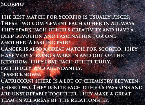 Scorpio Love Matches | Scorpio love match, Pisces, Best