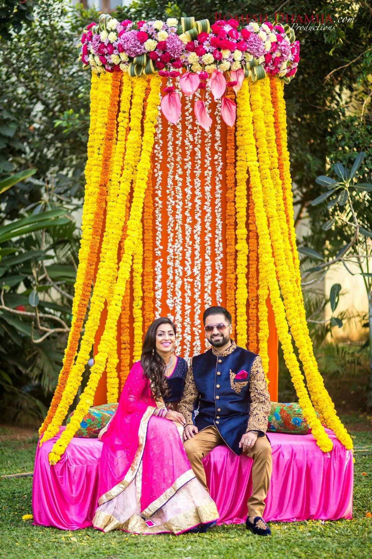 Decor ideas for haldi-mehendi ceremony   aileen   Pinterest ...