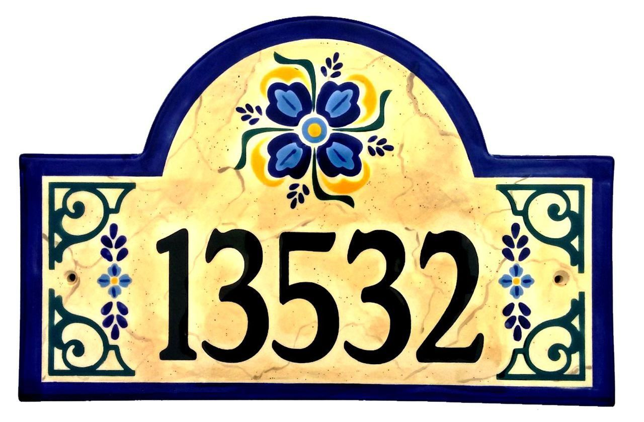 Old spanish house number plaque spanish house spanish and house old spanish house number plaque ceramic address plaques by classy plaques studio dailygadgetfo Gallery