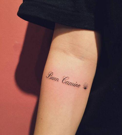Buen Camino Santiago De Compostela Forearm Name Tattoos Forearm Tattoo Women Small Forearm Tattoos