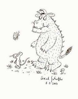 Angol feladatok, mondókák, színezők: The Gruffalo Song