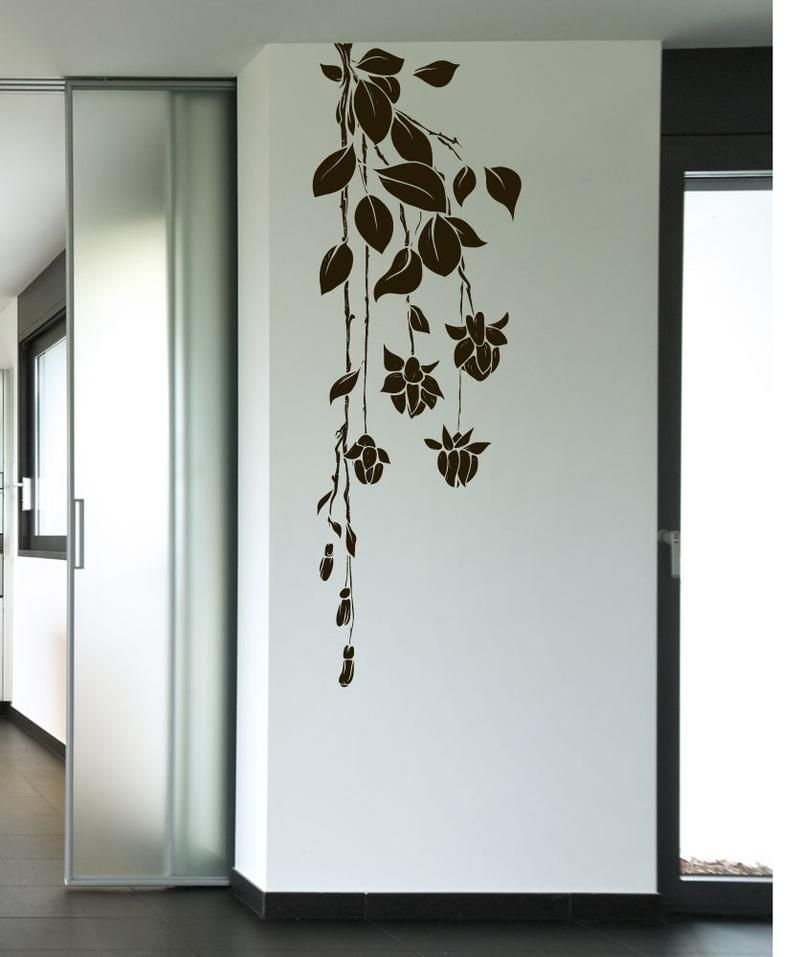 Hanging Flower Vines Vinyl Wall Decal Sticker 1016 With Images