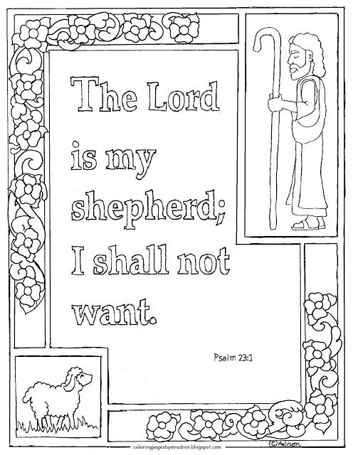 "Coloring Pages for Kids by Mr. Adron: Printable Psalm 100:10, ""The ..."