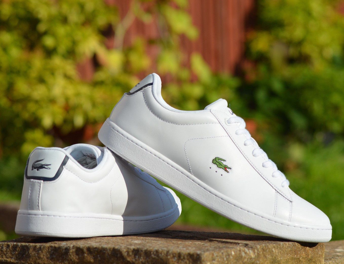 Pin By Ewa Pi On Sneakers Leather Men Lacoste White Leather