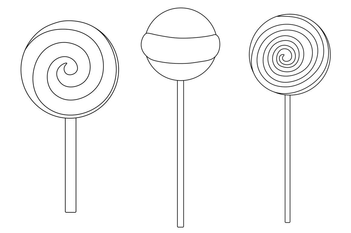 Candy Black And White Coloring Candy Svg Lollipop Svg 1055831 Illustrations Design Bundles Illustration Design Lollipop Black And White