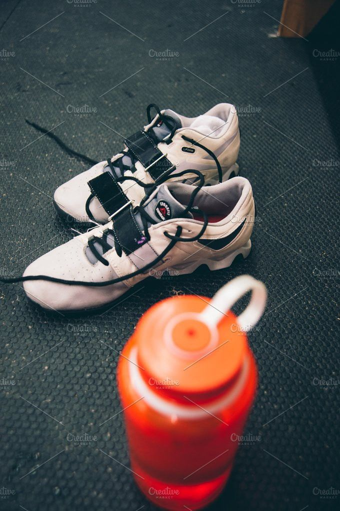 CrossFit Lifting Shoes-Water Bottle. Sports Photos