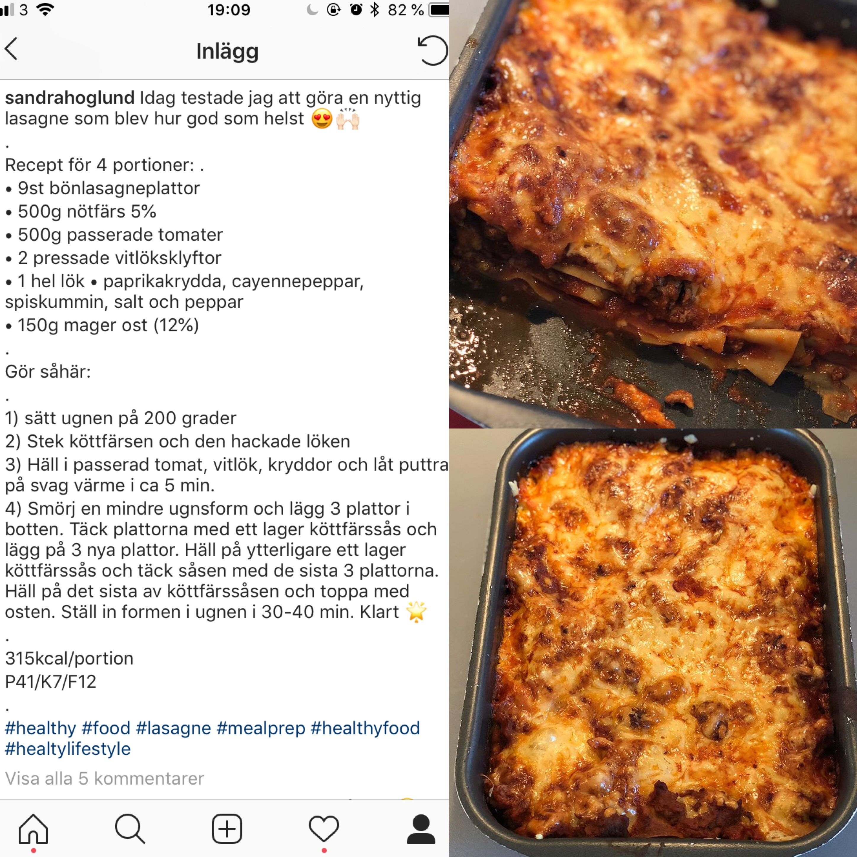 nyttig lasagne bönpasta
