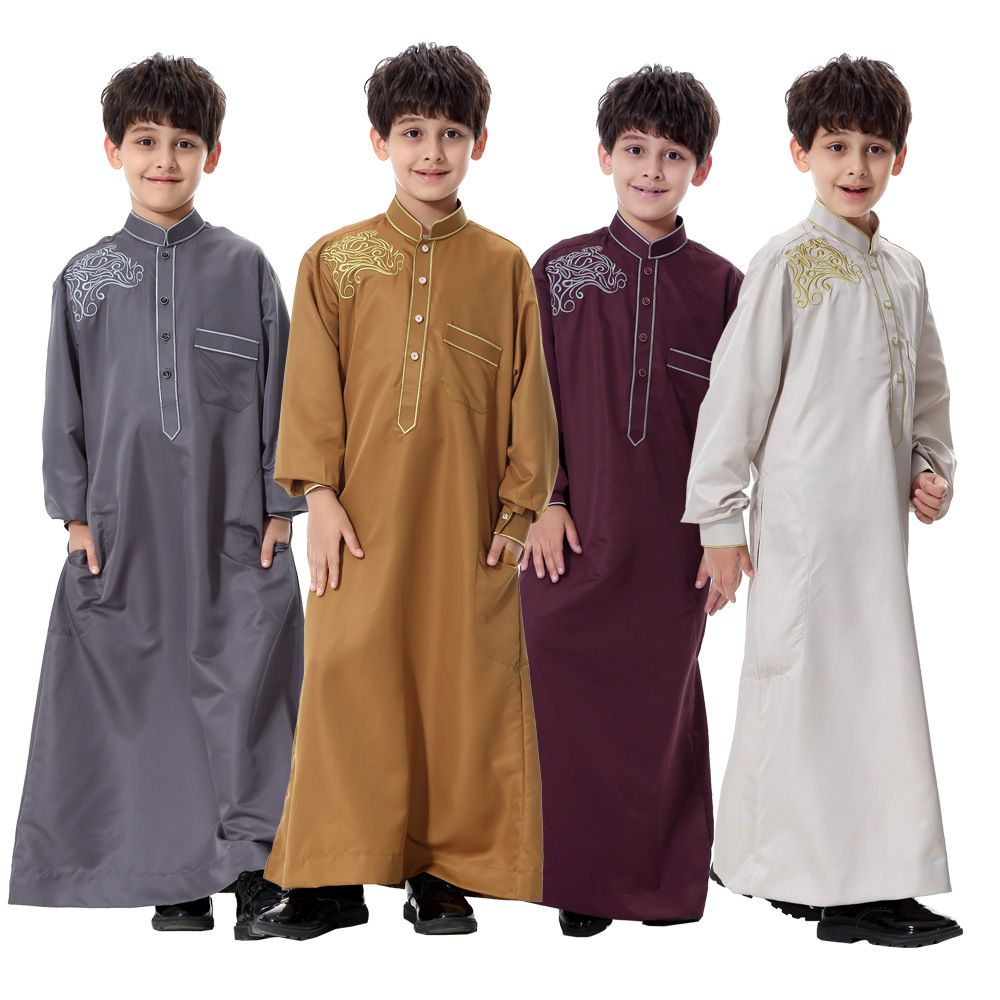 30512e5292164 Plus Size Muslim Arab Little Boys Abaya in 2019 | Arabic clothing ...